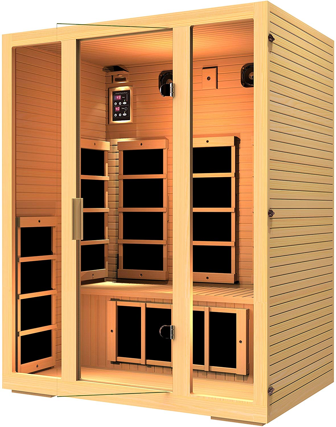 3 person Canadian Hemlock Wood far infrared Sauna buying guide