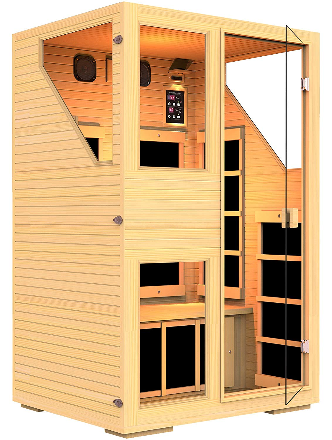 JNH Lifestyles ENSI Collection 2 Person Virtually Zero EMF Infrared Sauna
