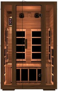 JNH Lifestyles Freedom 2 Person Canadian Western Red Cedar Wood Far Infrared Sauna, 7 Carbon Fiber Heaters