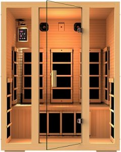 JNH Lifestyles Joyous 3 Person Canadian Hemlock Wood 8 Carbon Fiber Heaters