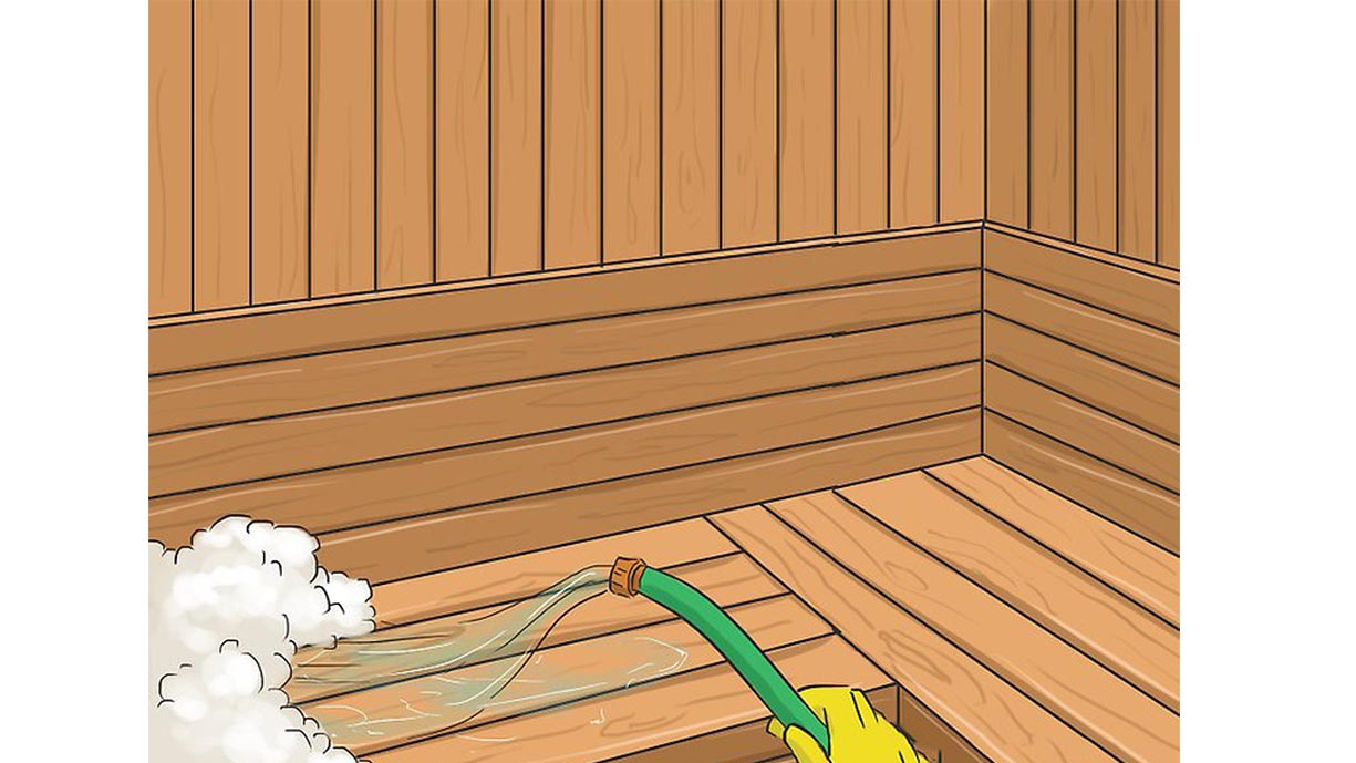 sauna clean
