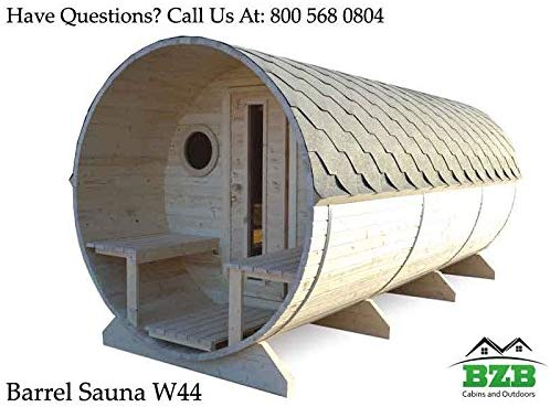 BZBCabins.com Barrel Outdoor Sauna