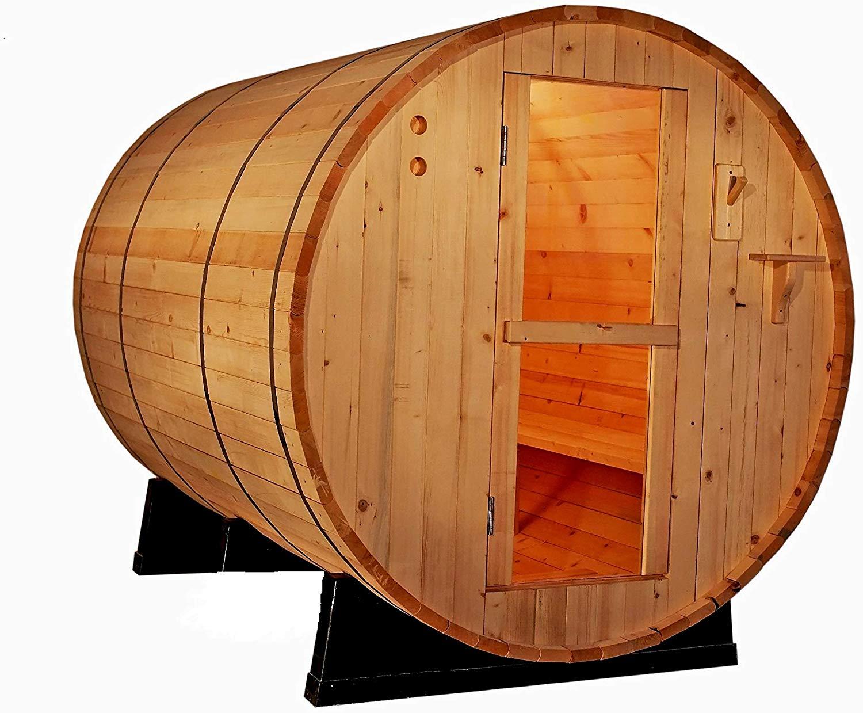 MCP Sauna 4-Person Canadian Red Cedar Barrel Sauna
