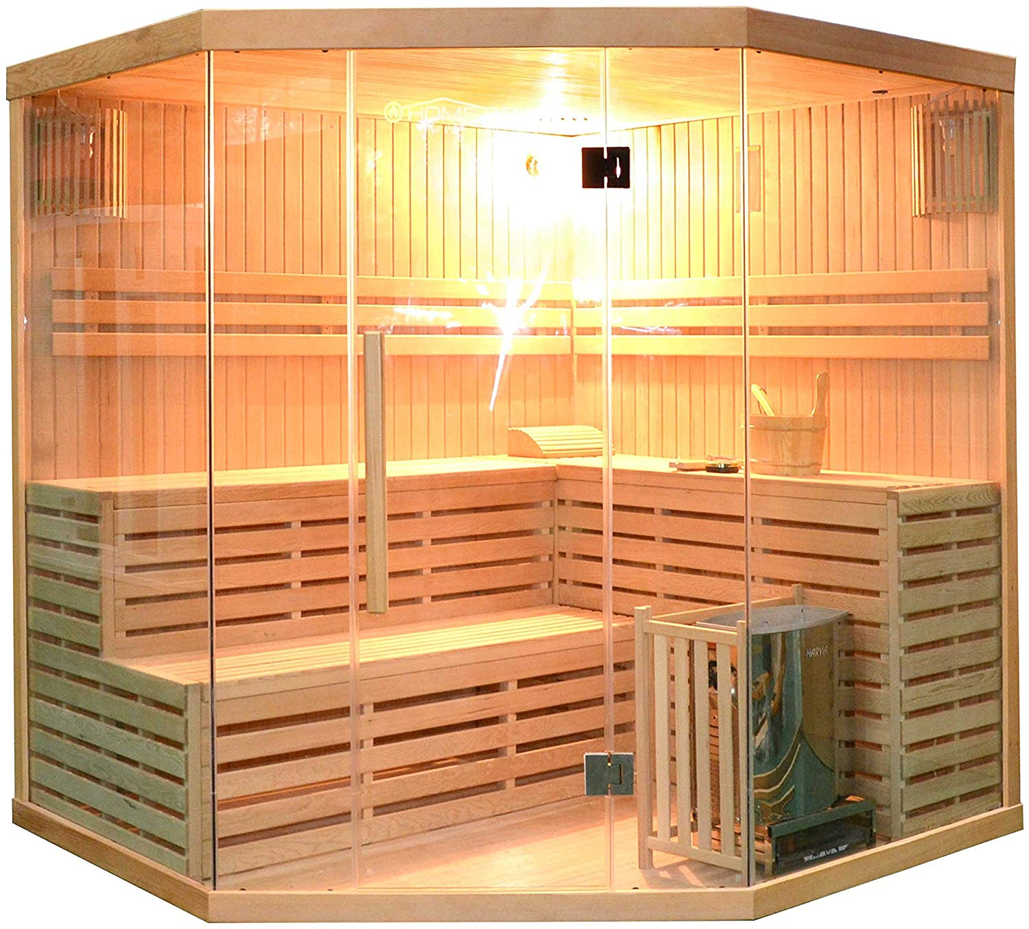 ALEKO SEA5JIU Canadian Hemlock 5-6-Person Sauna