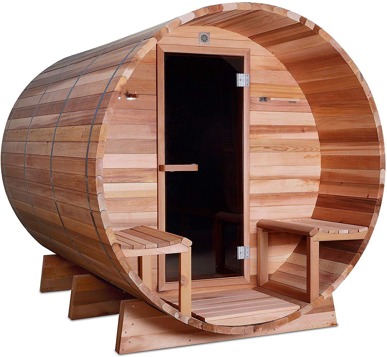 ALEKO Red Cedar 8-Person Barrel Sauna